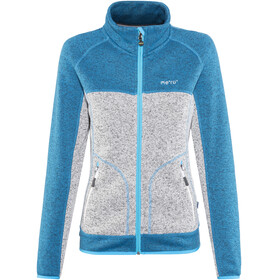Meru W's Märsta Knitted Fleece Jacket Seaport Melange